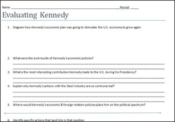 Evaluating President Kennedy