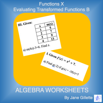 Evaluating Transformed Functions B