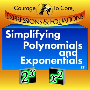 Evaluating and Simplifying Exponential and Polynomial Expr