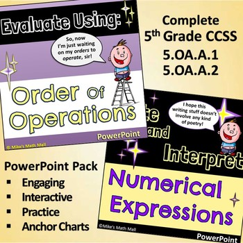 Write and Interpret Numerical Expressions 5th Grade CCSS (