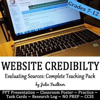 Evaluate Credibility & Validity of Online Sources Lesson,