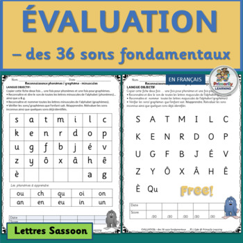 FREE! French: Evaluation – des 36 sons fondamentaux (SASSOON)