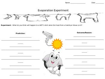 Evaporation Experiment Worksheet