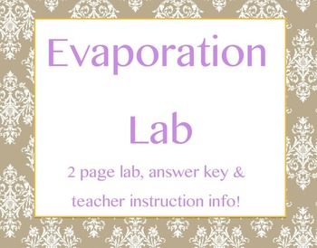 Evaporation Lab
