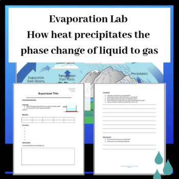 Evaporation Lab: Phases of Matter (Liquid to Gas) Powerpoi