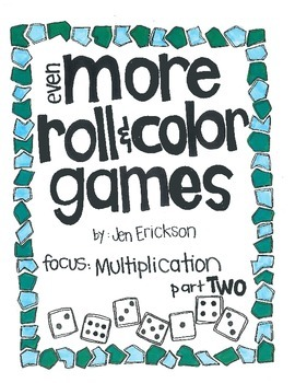 Even MORE Roll & Color:  Multiplication (part 2)
