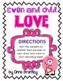 Even & Odd Love Math Center  {FREE}