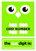 Even & Odd Numbers