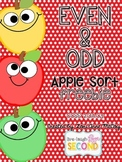 Even and Odd Apple Sort-FREEBIE