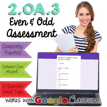 Even and Odd Digital Assessment - Google Forms