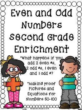 Even and Odd Enrichment (2nd Grade)