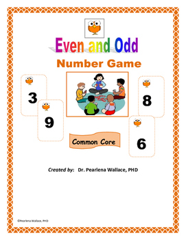 Math Game: Even and Odd Number  CCSS Aligned