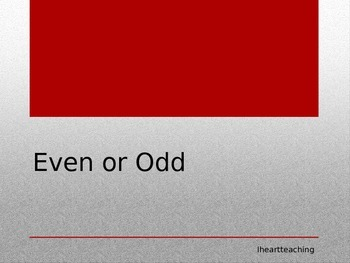 Even and Odd Power Point (interactive)
