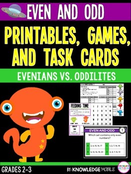 Even and Odd - Printables, Games, and Task Cards