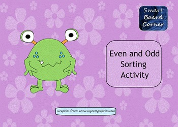 Even and Odd Sorting Activity for SMART Board