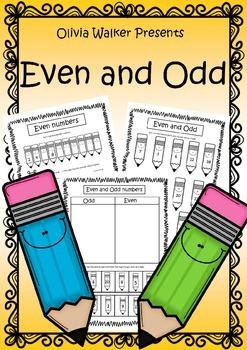 Even and Odd Numbers Worksheets / Printables