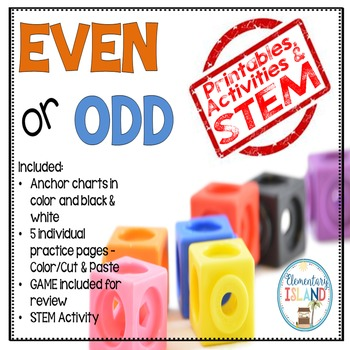 Even or Odd STEM, Printables & Learning Game