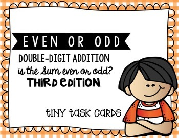 Even or Odd Simple Addition Sums Edition 3 Adding 2 Digit Numbers