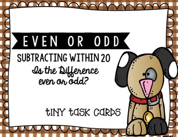 Even or Odd Simple Subtraction (Subtracting within 20) Tin