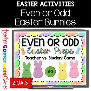 Even or Odd Easter Peeps - Teacher vs Student Powerpoint Game