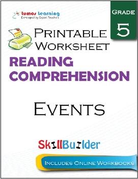 Events Printable Worksheet, Grade 5
