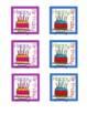 Events at School Calendar Reminder Cards