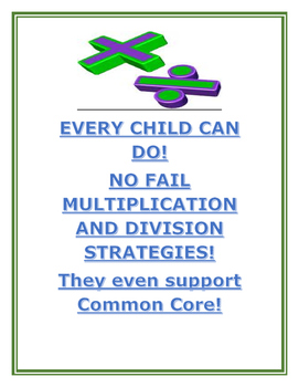 Multiplication and Division: No Fail Strategies Every Chil