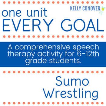 Every-Goal Speech Therapy Unit (Sumo Wrestling)