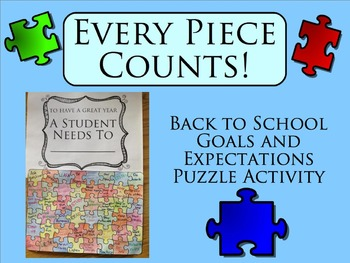 Every Piece Counts! Back to School Goals and Expectations