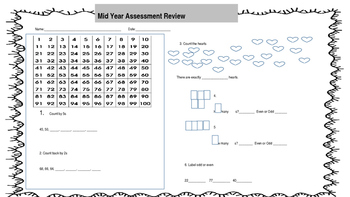 EveryDay Math Grade 1 Mid Year Review
