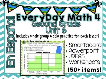 EveryDay Math 4| Unit 6| En Español| Gr. 2| Smartboard, Po