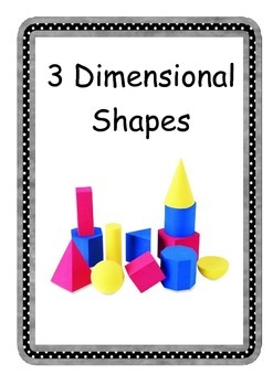 Everyday 3D Shapes Coloured Posters