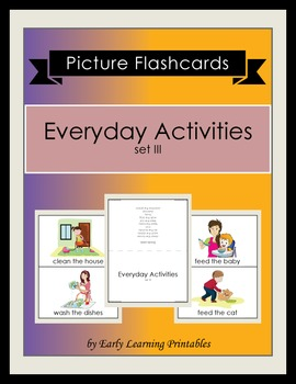 Everyday Activities (set III) Picture Flashcards