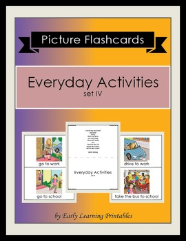 Everyday Activities (set IV) Picture Flashcards
