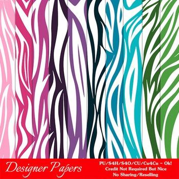 Everyday Colors Animal Patterns Digital Backgrounds pkg 2