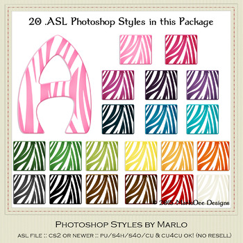 Everyday Colors Animal Zebra Stripes Photoshop Styles