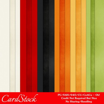 Everyday Colors Cardstock Digital Papers package 1