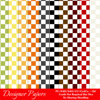 Everyday Colors Checks Patterns Digital Papers 1 A4 Size