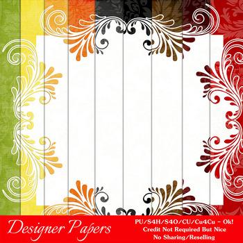 Everyday Colors Pretty Patterns Digital Backgrounds pkg 1