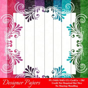 Everyday Colors Pretty Patterns Digital Backgrounds pkg 2