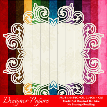 Everyday Colors Pretty Patterns Digital Backgrounds pkg 3