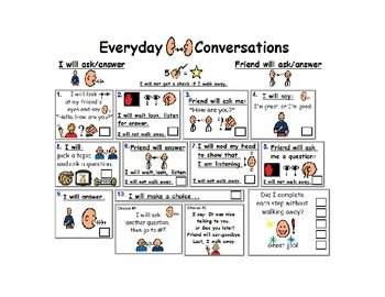 Conversation Checklist Visual Aid for Every Day
