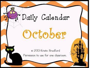 Everyday Counts Calendar October