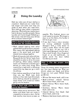 Everyday Household Tasks: Caring for Your Clothes-Doing th