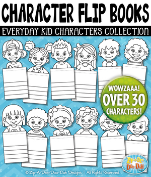 Everyday Kid Characters Flip Books Templates Pack — Includ