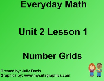 Everyday Math 1st Grade 2.1 Number Grids