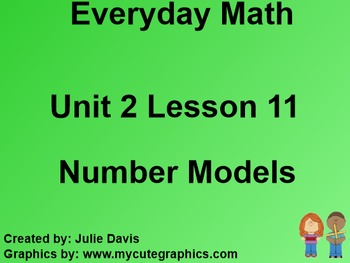 Everyday Math 1st Grade 2.11 Number Models