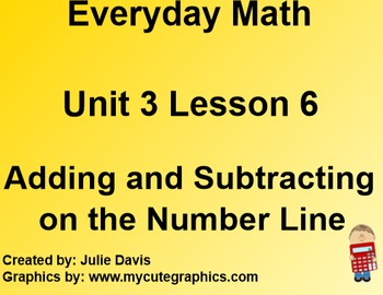 Everyday Math 1st Grade 3.6 Adding and Subtracting on the