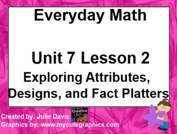Everyday Math 1st Grade 7.2 Exploring Atrributes Designs a