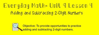Everyday Math 1st Grade- Lesson 9.4 (Smartboard Lesson)